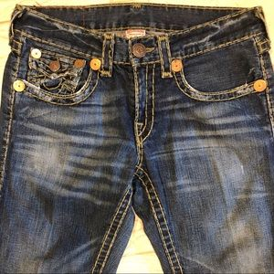 True Religion Super T Ricky Straight Leg Jean